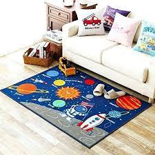 solar system rug kids rug educational learning carpet galaxy planets stars blue 3 3 x 4