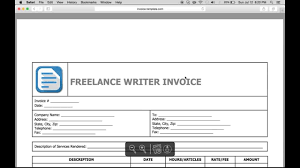freelance excel write a freelance writer invoice excel word pdf youtube