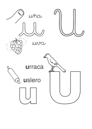 Words es from Letter U Coloring Page 600x839
