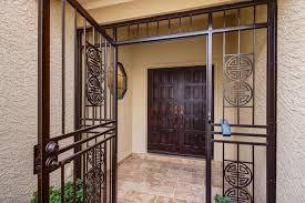 front door gateRustic Front Door with exterior tile floors in Scottsdale AZ