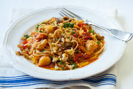Recipe for linguine with seafood - The ...
