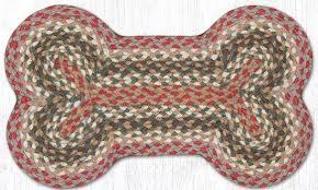 olive burdy gray medium jute braided dog bone shaped rug