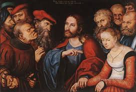 christ and the eress renaissance lucas cranach the elder painting