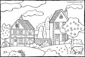 Twee Huizen En Een Appelboom Kiddicolour