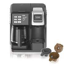 Just press a few buttons, wait for with a small drip coffee maker, you can steal these moments of pure nirvana every now and then. Hamilton Beach Flexbrew 12 Cup Black Drip Coffee Maker With Built In Timer 49976 The Home Depot