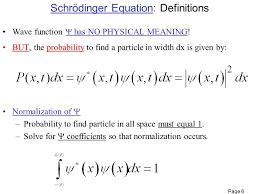 6 schrödinger equation definitions