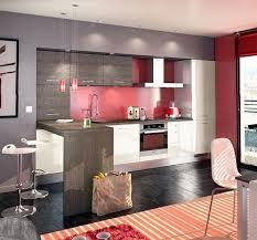 Cuisine Moderne Blanc Gris Et Rouge Daily Home Decorations