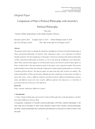 Aristotle Government Chart Pdf Comparison Of Platos Political Philosophy With