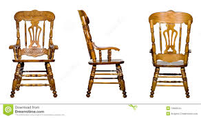 wooden chair side. Download Collage Of 3 Antique Wooden Chair Views (isolated) Stock Photo - Image Side