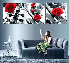 white wall decor black red art and elegant handmade silver