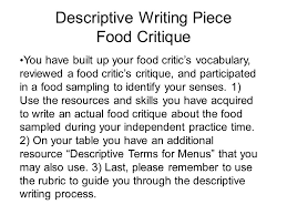 descriptive essay food madrat co descriptive essay food