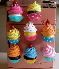 Cupcake Kitchen Decorations Fake Cupcake Swirly Twirly Magnets Your Choice Of Three Mini