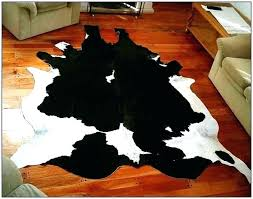 black and white cowhide rug simple faux