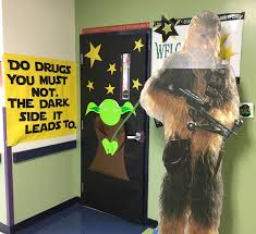Anti - drug door decoration with Star Wars theme.