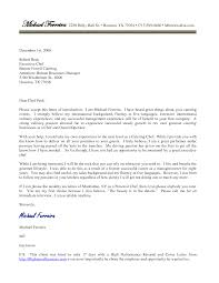 Cover Letter Design Culinary Cover Letter Sample For Chef