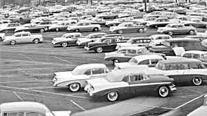 Flint Michigan 1956: New Chevrolet Car and Truck Storage Lot | The ...