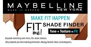 maybelline make fit happen shade finder foundation
