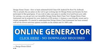 Cheat Design Home Design Home Cheats How To Hack Unlimited Gold Cheat Ios
