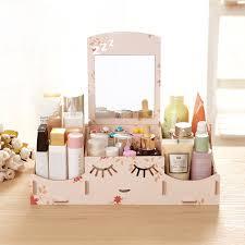 Wood makeup storage