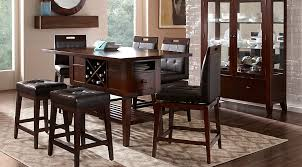 julian place chocolate 5 pc counter height dining room dining