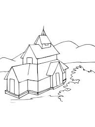 Small Picture Stave Church coloring page Free Printable Coloring Pages