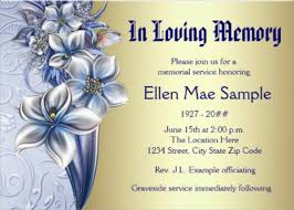 12+ Sample Funeral Invitation Templates | Sample Templates