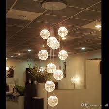 pendant lamps led aluminium glass ball lamp stair bar droplight lighting long spiral staircase hanging lights staircase hanging lights u71
