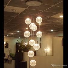 pendant lamps led aluminium glass ball pendant lamp stair bar droplight aluminium pendant lighting long spiral staircase lamp droplight glass hanging lights