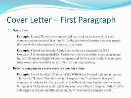 Format of a Cover Letter
