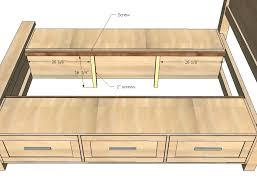 diy king platform bed with storage decorating cool king size platform bed 3 slats final king