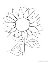 The diagram has lots of lovely petals and a cute, little face to color. Sunflower Coloring Pages Free Printable Coloring4free Coloring4free Com
