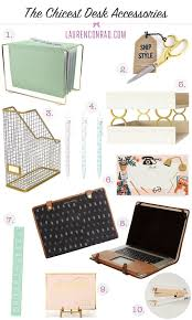 Office decor accessories Office Work Station The Chicest Desk Decor That Wont Break Your Bank Pinterest Tuesday Ten The Chicest Desk Decor Decorate Desk Office Decor