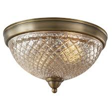 allen roth lynlore 13 in old brass flush mount light