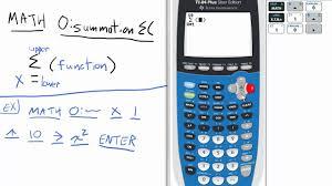 summation of arithmetic or geometric series ti 84 calculator