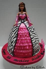11 Barbie Zebra Cakes Photo Barbie Doll Zebra Print Cakes Barbie