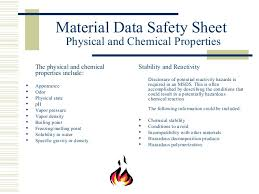 chemical information sheet msds annual refresher training by u s department of agriculture