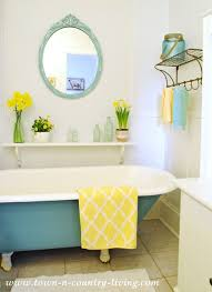 Clawfoot Tub Bathroom Ideas Best My Painted Claw Foot Tub Town Country Living
