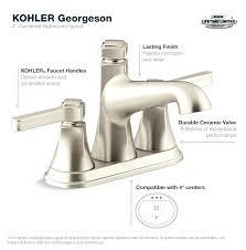 Bathroom Faucets bathroom faucets with sprayer : 4 Centerset Faucet Bathroom Faucet In Vibrant Brushed Nickel 4 ...