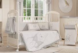 gray winnie the pooh baby bedding set