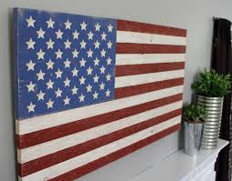 lofty idea wood american flag wall art interior decorating rustic wooden patriotic distressed sign large reclaimed