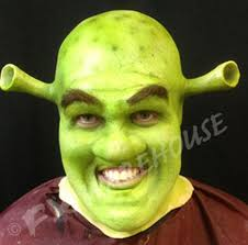 ogre use for shrek face foam latex prosthetic