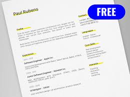 Cv Resume Template For Adobe Illustrator Freebie Supply