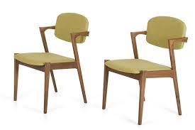 modern green tea fabric dining chair (set of )