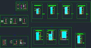 shower doors in autocad cad