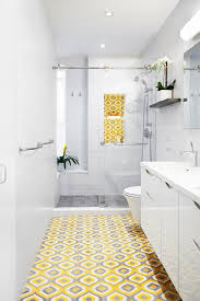 Top  Bathroom Tile Trends Of  HGTVs Decorating  Design - Yellow and white bathroom