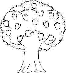Small Picture Apple Tree Awesome Apple Tree Coloring Page apple Pinterest