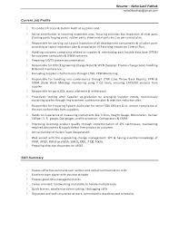 Experience Synonym Resume #7611