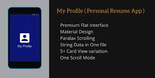 app resume my profile personal resume app by dream_space codecanyon