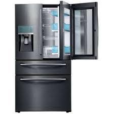 lg refrigerators home depot. 27.8 cu. ft. food showcase 4-door french door refrigerator in black stainless lg refrigerators home depot