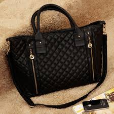 Black Quilted Zipper Purse Tote Shoulder Hand Bag Satchel ... & Black Quilted Zipper Purse Tote Shoulder Hand Bag Satchel [grzxy62000264] Adamdwight.com
